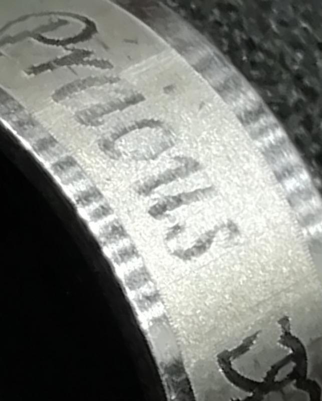 Edelstahl - Bandring mit Schriftzug Preious Love