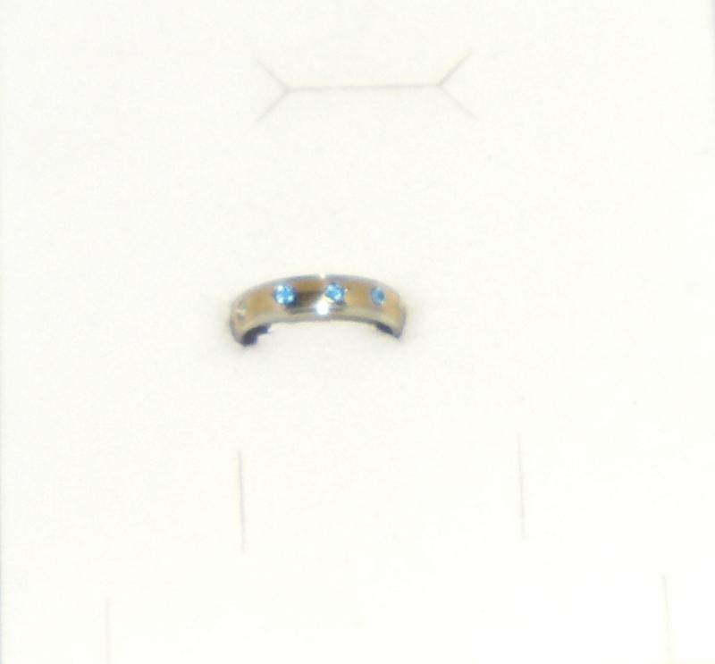 Edelstahl Ring mit Steinen