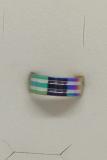 Edelstahl Ring silber mit regenbogenfarben umlaufenden Streifen