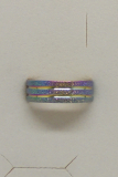 Edelstahl Ring regenbogenfarben sand mit umlaufenden Streifen