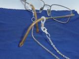 Brillenkette silber, handgefertigt