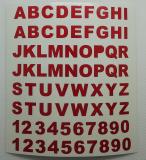 Klebebuchstaben ab 8 mm, rot