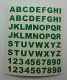 Klebebuchstaben ab 8 mm, grün