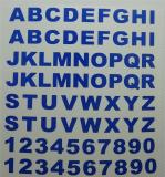 Klebebuchstaben ab 8 mm, blau