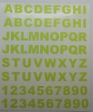 Klebebuchstaben ab 8 mm, lindgrün