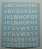 Klebebuchstaben ab 8 mm, weiss