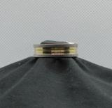 Edelstahl Ring mit Rillen gold / silber