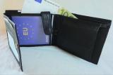 RFID Protect - Geldbörse Nappa-Leder Kombibörse schwarz