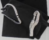 Armband mit Steinen in Diamantoptik Silber plattiert