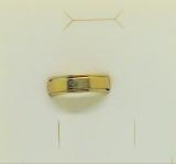 Edelstahl - Doppelring mit Motiv goldfarben