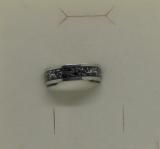 Edelstahl - Ring zweifarbig mit Dekor Kette
