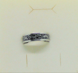 Edelstahl - Ring mit Dekor Laub
