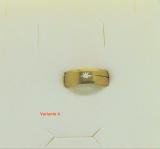 Edelstahl Ring goldfarben mit gestanztem Motiv