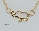 Damenhalskette 50 cm mit Hohlanhänger Elefant