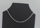 Halskette im Singapurstil, 925K Silber plattiert, 1 mm stark, 56 cm lang