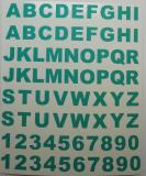 Klebebuchstaben ab 8 mm, türkis
