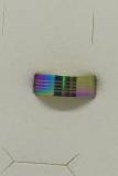 Edelstahl Ring regenbogenfarben poliert mit umlaufenden Streifen