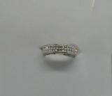 Edelstahl Ring mit zweireihig umlaufenden Steinen in Diamantoptik